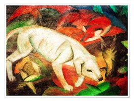Premium poster  Three animals (dog, fox and cat) - Franz Marc