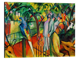 Alu-Dibond  Zoological garden - August Macke