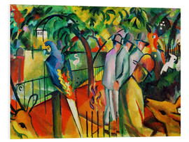 Foam board print  Zoological garden - August Macke