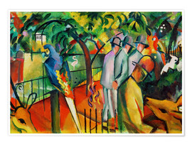 Poster  Zoological garden - August Macke