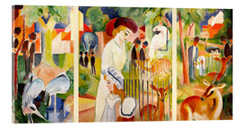 Acrylic print  The Zoo - August Macke