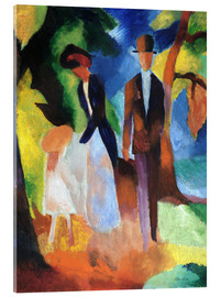 Acrylic glass  People at the blue lake - August Macke