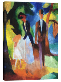 Canvas print  People at the blue lake - August Macke
