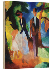 Wood  People at the blue lake - August Macke