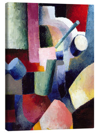 Canvas  Coloured Composition of Forms - August Macke