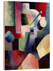 Wood  Coloured Composition of Forms - August Macke