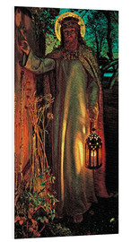 Foam board print  The Light of the World - William Holman Hunt