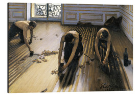 Aluminium print  The parquet planers - Gustave Caillebotte