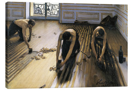 Canvas print  The parquet planers - Gustave Caillebotte