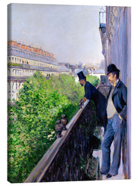 Canvas print  Balcony on Boulevard Haussmann - Gustave Caillebotte