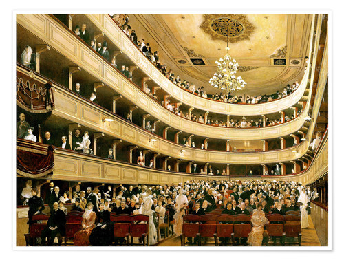 Poster Auditorium of the Old Burgtheater in Vienna