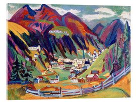 Acrylic glass  View of Davos - Ernst Ludwig Kirchner