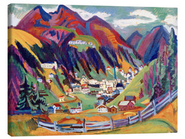 Canvas print  View of Davos - Ernst Ludwig Kirchner