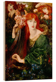 Wood print  The garland girl - Dante Charles Gabriel Rossetti
