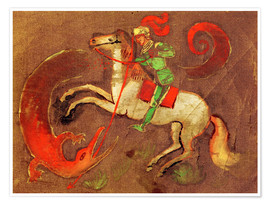August Macke - Knight George and dragon