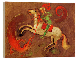 Wood print  Knight George and dragon - August Macke
