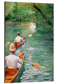 Aluminium print  Paddle boats - Gustave Caillebotte