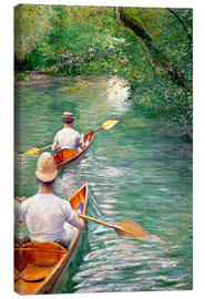 Canvas  Paddle boats - Gustave Caillebotte