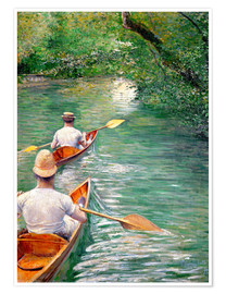 Premium poster  Paddle boats - Gustave Caillebotte