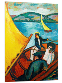 Forex  Sailing Boat, Tegernsee - August Macke
