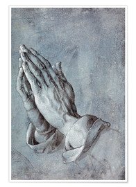Premium poster  Study of the apostle's hands - Albrecht Dürer