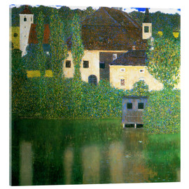 Acrylic print  Castle chamber on the Attersee I - Gustav Klimt