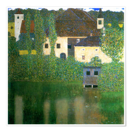 Poster  Castle chamber on the Attersee I - Gustav Klimt