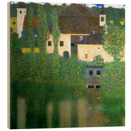Wood print  Castle chamber on the Attersee I - Gustav Klimt