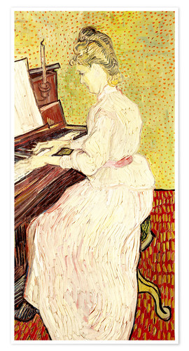 Premium poster Marguerite Gachet at the piano