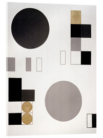 Acrylic print  Composition with circles and rectangles - Sophie Taeuber-Arp