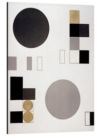 Alu-Dibond  Composition with circles and rectangles - Sophie Taeuber-Arp