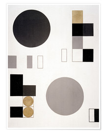 Premium poster Composition with circles and rectangles