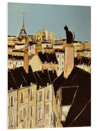 Foam board print  No scared of heights in Paris - JIEL