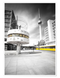 Premium poster  World Clock Berlin - Marcus Klepper