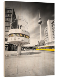 Wood print  World Clock Berlin - Marcus Klepper