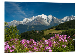 Acrylic print  View from the village Cordon to Mont Blanc Massif, France - Frauke Scholz