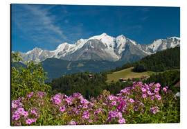 Aluminium print  View from the village Cordon to Mont Blanc Massif, France - Frauke Scholz