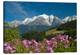 Canvas print  View from the village of Cordon to Mont Blanc Massif, France - Frauke Scholz