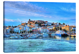 Canvas print  View of the old port of Ibiza - HADYPHOTO