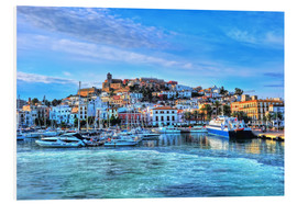 Foam board print  View of the old port of Ibiza - HADYPHOTO