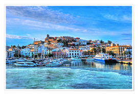 Premium poster  View of the old port of Ibiza - HADYPHOTO