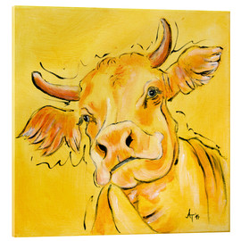 Acrylic print  The yellow cow Lotte - Annett Tropschug