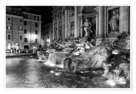 Premium poster Trevi fountain in Rome
