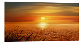 Acrylic glass  Sunset Over The Ocean - Monika Jüngling