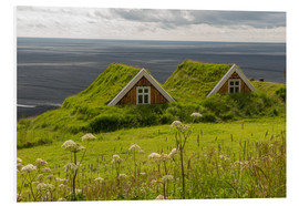 Foam board print  Traditional Houses in the Skaftafell National Park, Iceland - Markus Ulrich