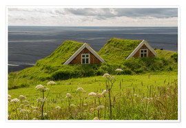Premium poster  Traditional Houses in the Skaftafell National Park, Iceland - Markus Ulrich