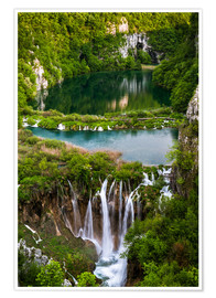 Premium poster  Waterfall Paradise Plitvice Lakes - Andreas Wonisch