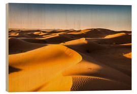 Wood print  Desert landscape at sunrise - Andreas Wonisch