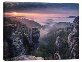 Canvas  Sunrise on the Rocks - Andreas Wonisch