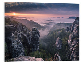 Foam board print  Sunrise on the Rocks - Andreas Wonisch